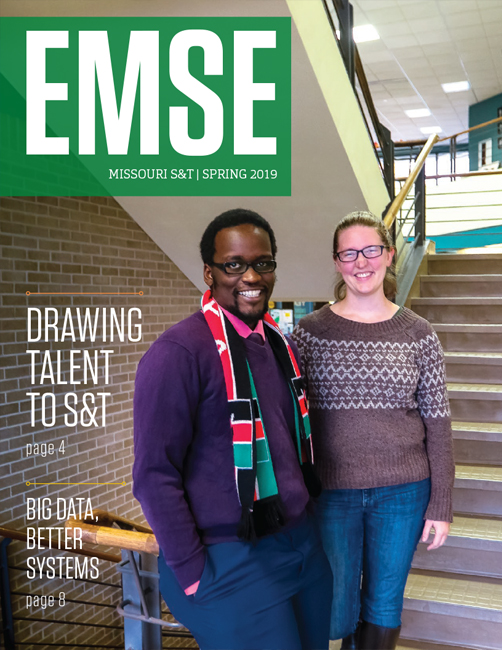 Cover of the EMSE department newsletter 2019